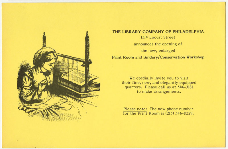 invitation to enlarged print room opening 1984