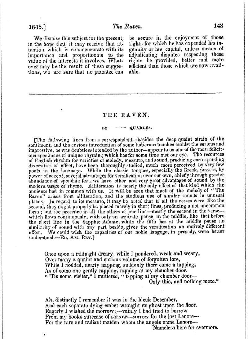 literary analysis of the raven by edgar allan poe