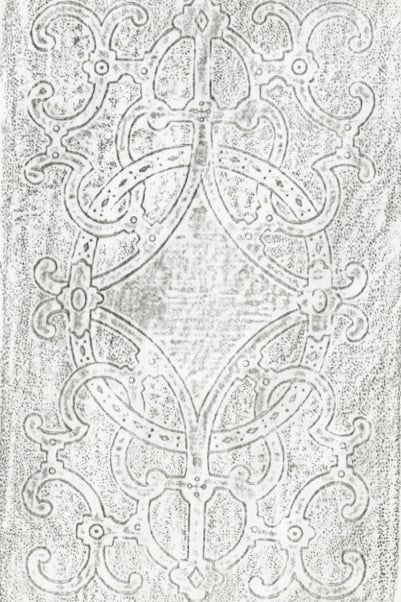 Images of all the identified pre-ornamented designs. These supplement an article in Papers of the Bibliographical Society of America (Vol 94, no. 2, June 2000) on a previously unrecorded cloth ornamentation technique.