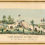 Louis N. Rosenthal, Camp Kearney, 24th Regt. N.J.V. (Philadelphia: Rosenthal's Lith, 1862). Hand-colored lithograph.