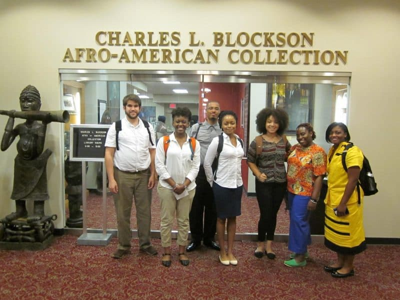 Mellon Scholar's visit to Temple University's Blockson Afro-American Collection