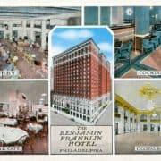 The Benjamin Franklin Hotel, Philadelphia (Philadelphia, ca. 1940). Photomechanically-printed postcard.