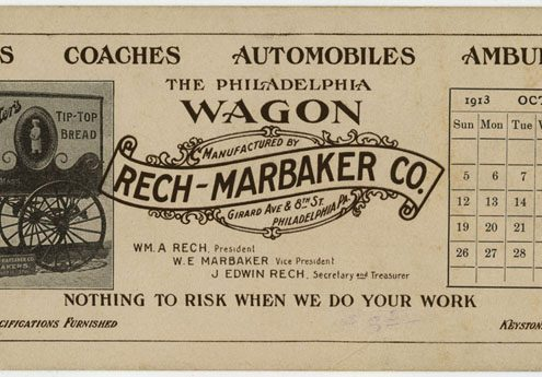 The Philadelphia Wagon Manufactured by Rech-Marbaker Co. Girard Ave & 8th St. Philadelphia Pa. ([Philadelphia], 1913).