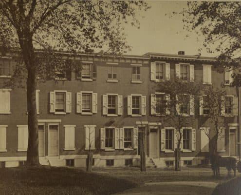 Albert Hatch's Philadelphia residence at 577 North Twenty-Fifth Street, ca. 1885.