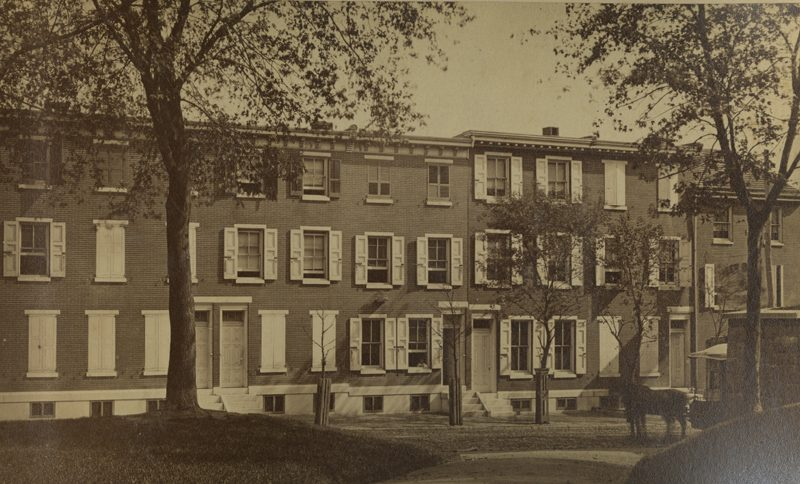 Albert Hatch's Philadelphia residence at 577 North Twenty-Fifth Street, ca. 1885.