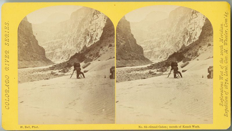 W. Bell, Grand Cañon; mouth of Kanab Wash, No. 64 from Colorado River Series. Explorations West of the 100th Meridian. Expedition of 1872, Lieut. Geo. M. Wheeler, Com'dg. (Philadelphia: William Bell, ca. 1872).