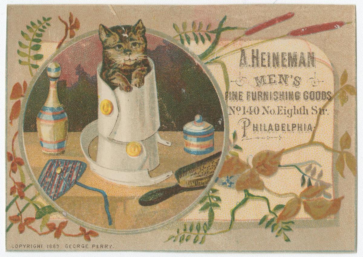 A. Heinman Men's Furnishing Goods, No. 140 No. Eighth Str. Philadelphia. (Philadelphia, ca. 1883).