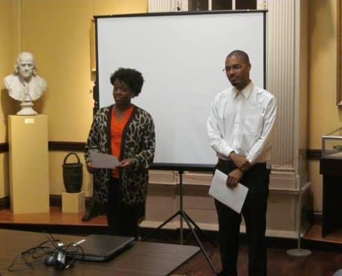 Mellon Scholars Jalyn Gordon and Shayne McGregor