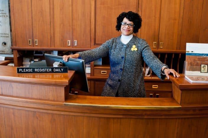 Charlene Knight, Visitor Services Coordinator.