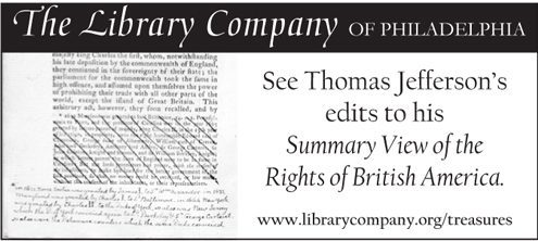 See Thomas Jefferson's edits to his Summary View of the Rights of British America.