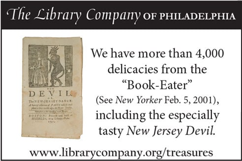 "We have more than 4,000 delicacies from the ""Book-Eater"" (See New Yorker Feb. 5, 2001), including the especially tasty New Jersey Devil."