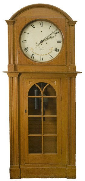 John Child. Tall Case Clock, 1835. Pine. Purchased by the Library Company from John Child in 1835.