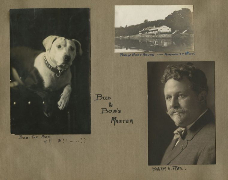 Page from Carson R. Draucker photograph album. Gelatin silver photographs, ca. 1912.