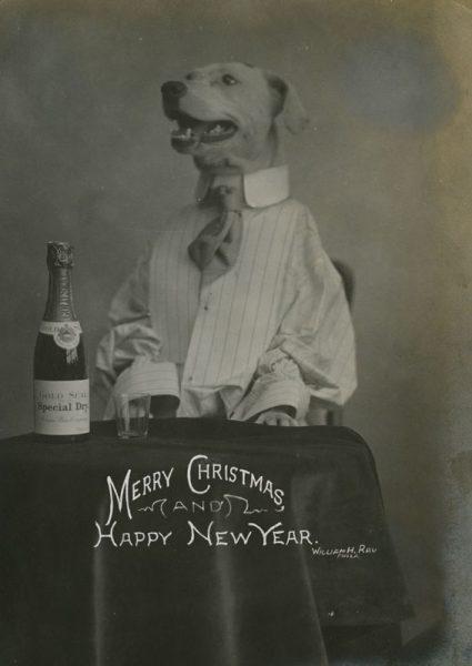 William Rau. Holiday card, gelatin silver photograph, ca. 1910.