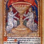 Catholic Church, Book of Hours ([Paris]: Antoine Verard, 1508), plate 1. Color woodcut.