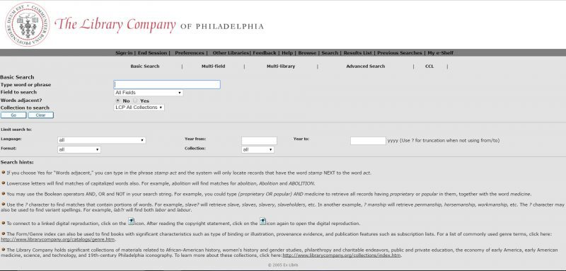 Screenshot of the home page of WolfPAC, the Library Catalog.