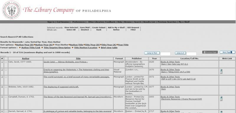 Screenshot of the search results view on WolfPAC, our library catalog.