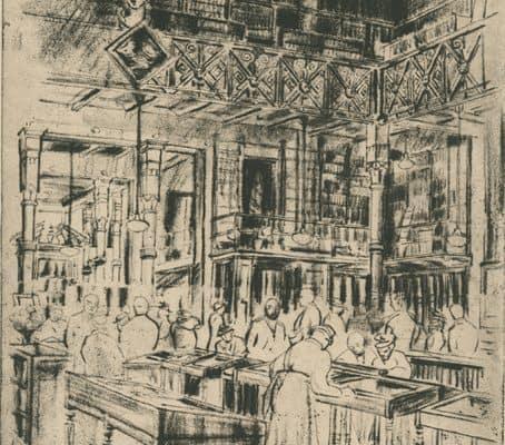 M. Nefferdorf, Library Company of Philadelphia--Last Tea, Sketch, New Jersey: November 28, 1939.