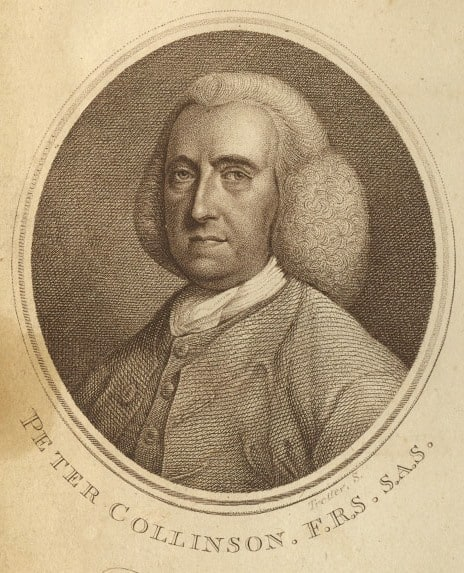 Portrait of Peter Collinson. Lettsome, John Coakley. Memoirs of John Fothergill, M.D. London: C. Dilly, 1786, p. [260].