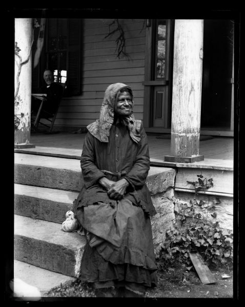 Marriott Canby Morris. Aunt Phebe at Mcaboy's, Polk Co. North Carolina, 1890. Glass negative. Marriott C. Morris Collection.
