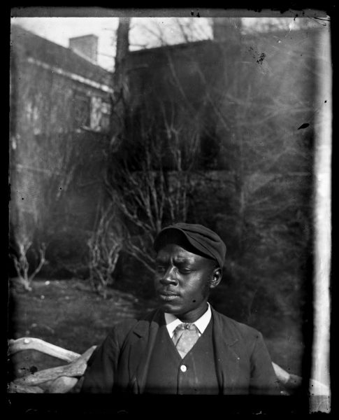Marriott Canby Morris. [Half-Length Portrait of African American] James Rodgers, ca. 1885. Glass negative. Marriott C. Morris Collection.