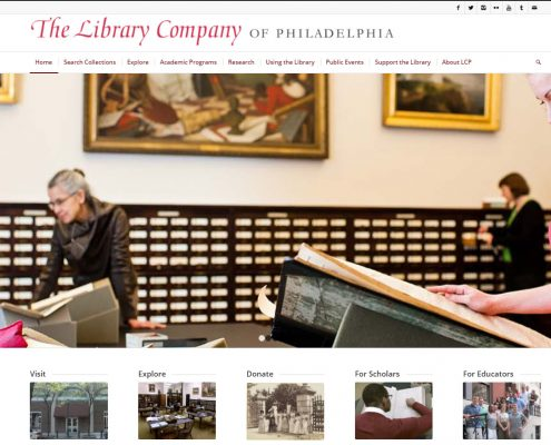 Screenshot of the LCP homepage.