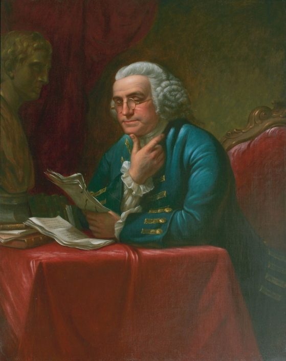 James Reid Lambdin (1807-1889). Benjamin Franklin, ca. 1880. Oil on canvas. Purchased by the Library Company, 1880.