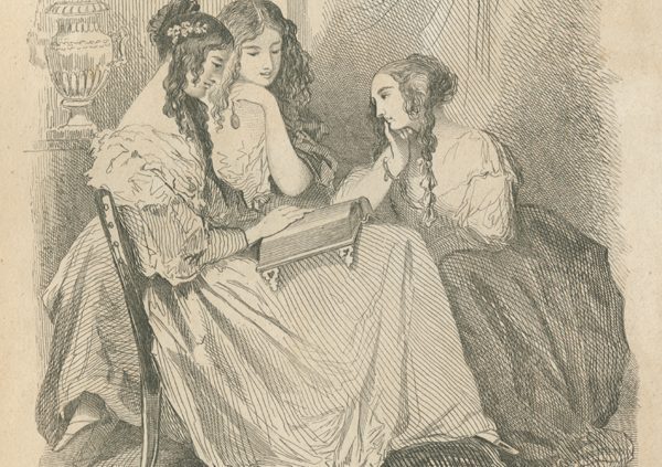 """""""A Reading Party,"""" inGodey's Lady's Book 33 (1846): plate opposite p. 145."""