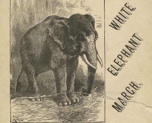 """J. W. Wheeler's """"White Elephant March"""" of 1884"""