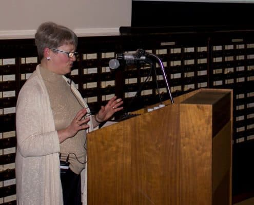 Susan Shifrin at the April 9th event