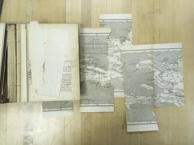 Damaged Map from Samuel Hazard, Santo Domingo, Past and Present: With a Glance at Hayti (New York, 1873).