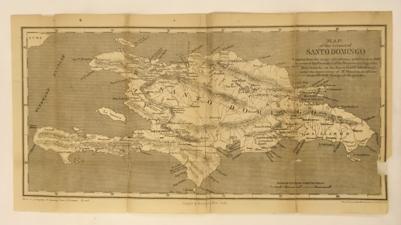 Repaired Map from Samuel Hazard, Santo Domingo, Past and Present: With a Glance at Hayti (New York, 1873).