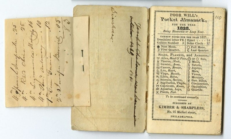 Journal from 1827.