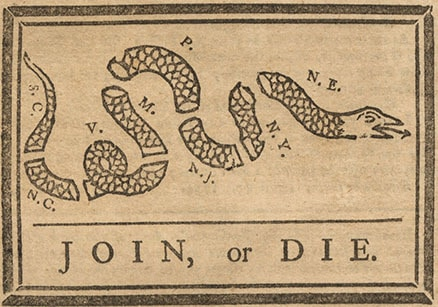 Detail from The Pennsylvania Gazette (Philadelphia: B. Franklin, May 9, 1754).