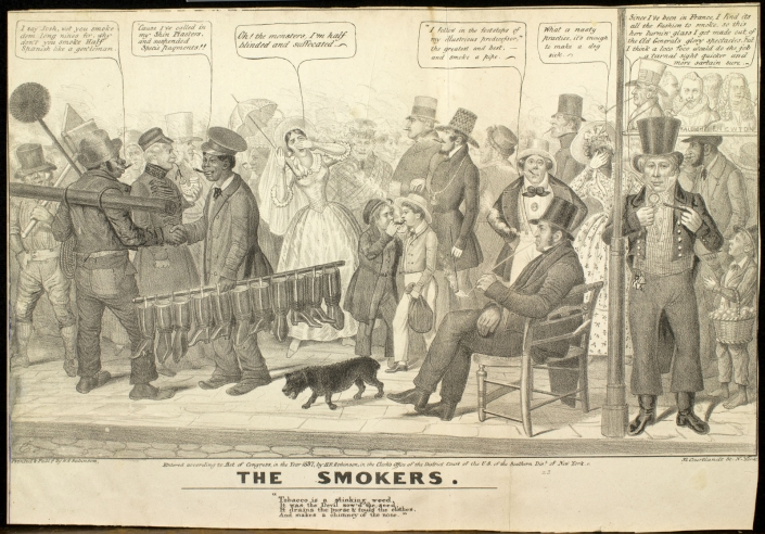 Edward Williams Clay, The Smokers (New York: H. R. Robinson, 1837). Lithograph.