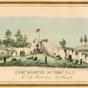 Louis N. Rosenthal, Camp Kearney, 24th Regt. N.J.V. (Philadelphia: Rosenthal's Lith, 1862). Hand-colored lithograph.