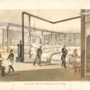 Major & Knapp Engraving, Manufacturing & Lithographic Co., Soldier's Depot, Hospital (4th Floor) (New York: Major & Knapp, 1864). Lithograph illustration published in D.T. Valentine, Manual of the Corporation of the City of New York for 1864 (New York : New York Common Council, 1864).