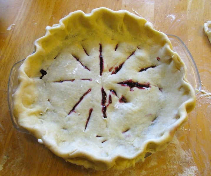 Cherry pie, formed but unbaked