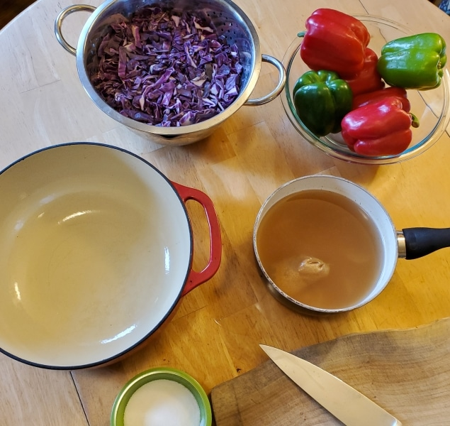 Ingredients gathered on the second day of preparation