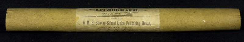 "Rolled print showing the text ""A.M.E. Sunday-School Union Publishing House."""