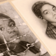 "A photo of an unidentified young African American woman is deeply creased as if it were folded and carried around by someone who valued it. It is part of an exhibit at the Library Company of Philadelphia called ""Negro Pasts and Afro-futures."" (Emma Lee/WHYY)"