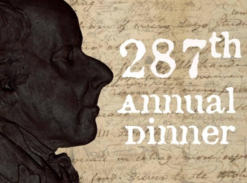 287th Annual Dinner