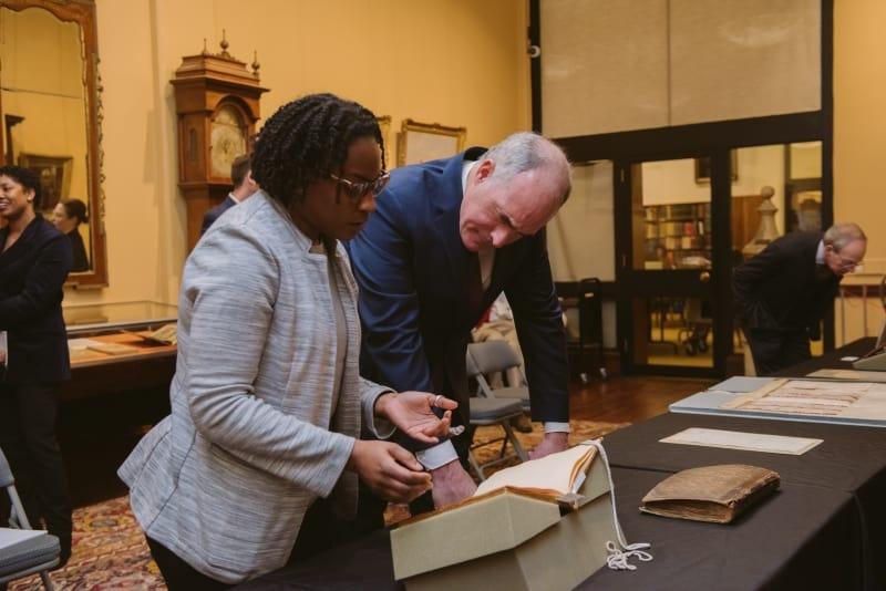 Senator Bob Casey visits The Library Company