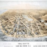 B. Armitage, Sea Grove, Cape May Point, N.J. (Philadelphia: Taylor & Smith, 1876). Lithograph, tinted with two stones.