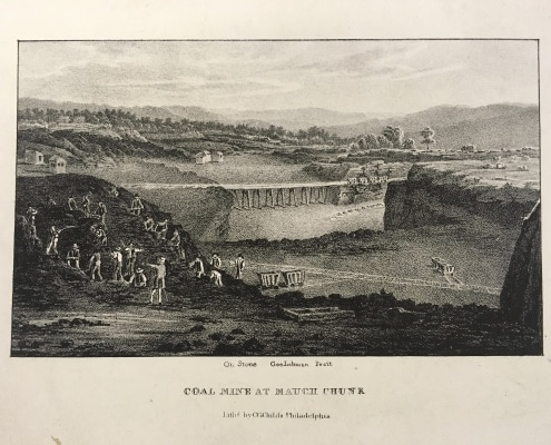 George Lehman, Coal Mine at Mauch Chunk(Philadelphia: C.G. Childs, ca.1837). Lithograph.