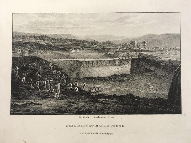 George Lehman, Coal Mine at Mauch Chunk(Philadelphia: C.G. Childs, ca.1837). Lithograph.