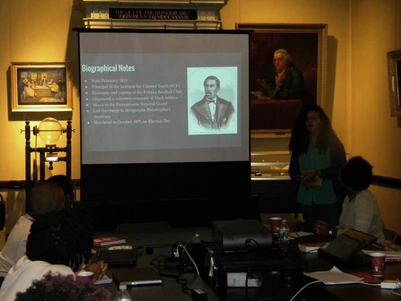 Katherine Ponds presents research on Octavius Catto.