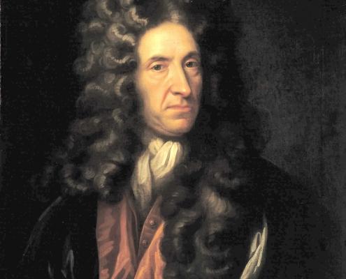 Portrait of Daniel Defoe in the style of Sir Godfrey Kneller