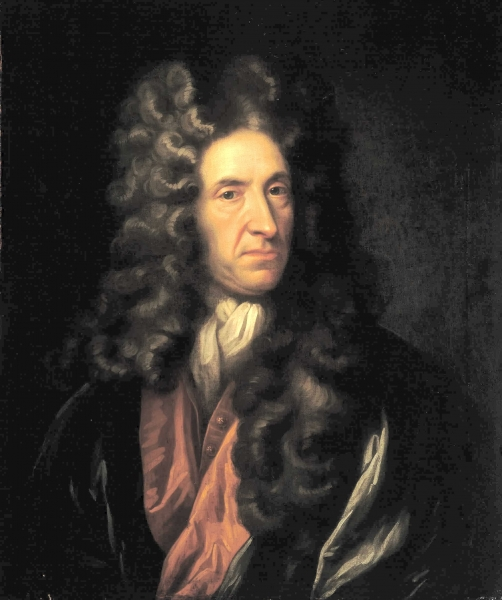 Portrait of Daniel Defoe in the style of Sir Godfrey Kneller