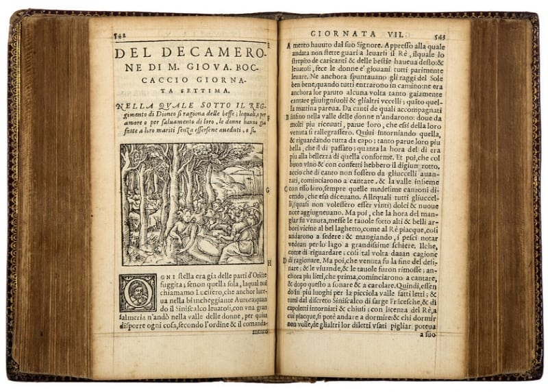 1555 Lyon edition of the Decameron